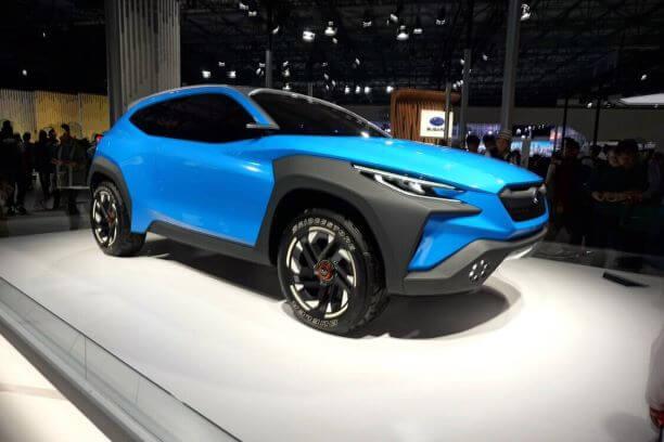 東京モーターショーで展示されたスバル車
