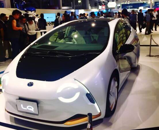東京モーターショーで展示されたトヨタの自動運転車
