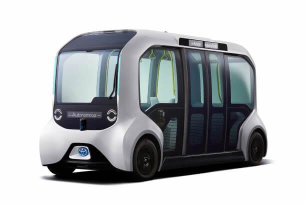 東京モーターショーで展示されたトヨタの自動運転バス