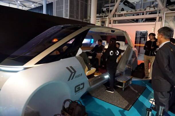 東京モーターショーで展示されたパナソニックの内装