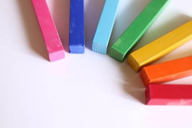 虹色パステル