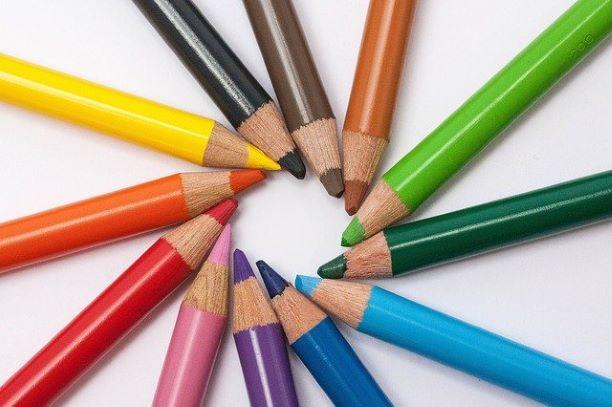 色鉛筆で作る円