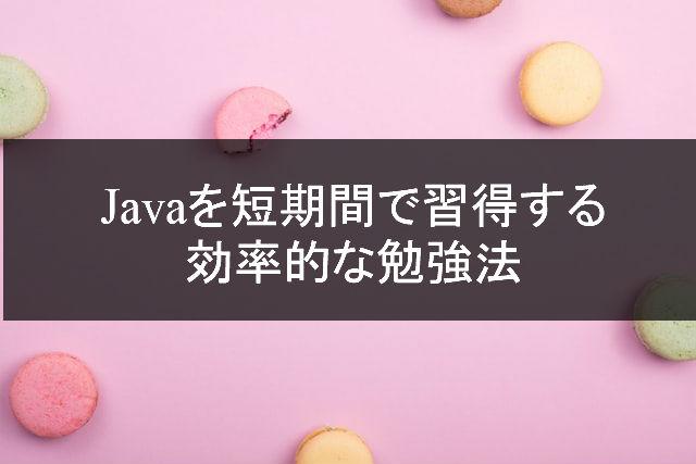 Javaを短期間で習得する効率的な勉強方法のアイコン画像
